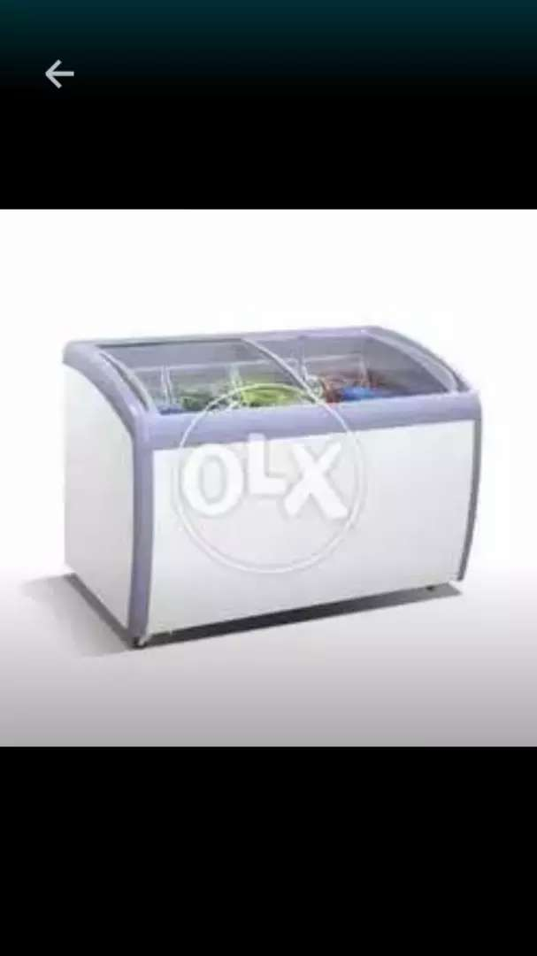 Glass Door Icecream Deepfreezer 0
