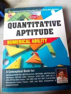 Quantitative aptitude,, numerical ability