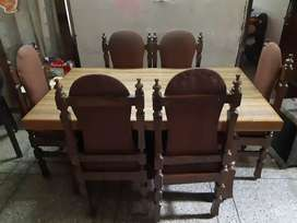 6 seater dining with table