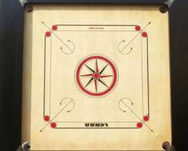 Full size Carrom board with stand and with peace