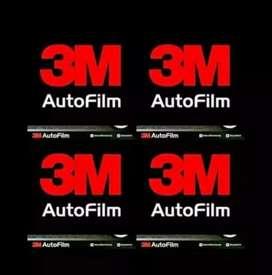 Kaca film super black dan 3M auto film