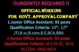 Official work for office assistance post