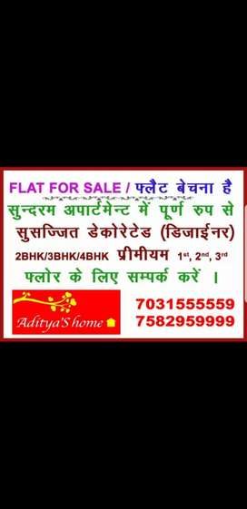Fully interior decorated furnished 2 bhk + 1 children room for sell