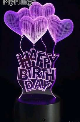 Birthday illusion lamps,, Customized Special Gifts ️
