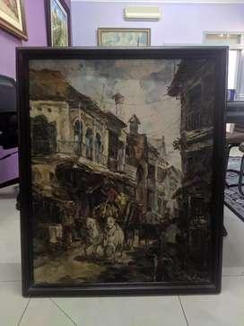 Lukisan Pasar Pabean by Yudi Muklas