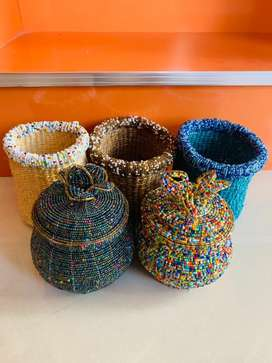 Brand new  Beaded jar containers in different colours and design