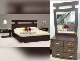 New king bed side and dressing table