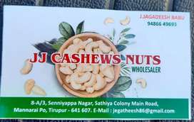 JJ CASHEWS NUTS- WHOLESALERS- TIRUPUR