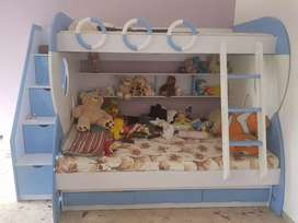 Kids bunk bed, wardrobe and study table