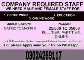 Urgent Staff Reqyired For Student