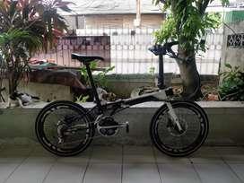Sepeda Lipat FoldX X5 18 Speed Crank Dura Ace