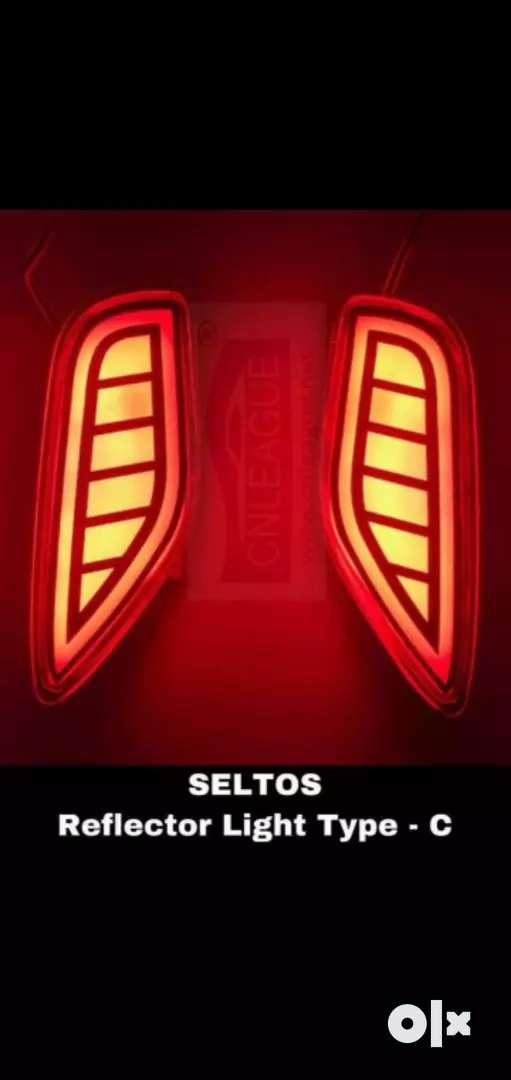 Kia seltos reflector light rear bumper light 0