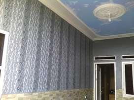 Jasa pengecatan tembok seperti wallpaper awet pengerjaan cepat 75rb/m²