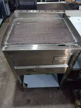 Burger hot plate pure stainless steel