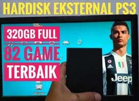 HDD 320GB Mantap FULL 82 GAME PS3 KEKINIAN Siap Dikirim