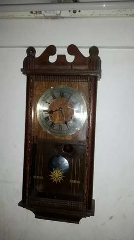 Antique 1880 German wooden Clock fully functional  collector's item
