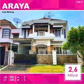 Rumah 2 Lantai Luas 200 di Golf Araya kota Malang _ 300.18