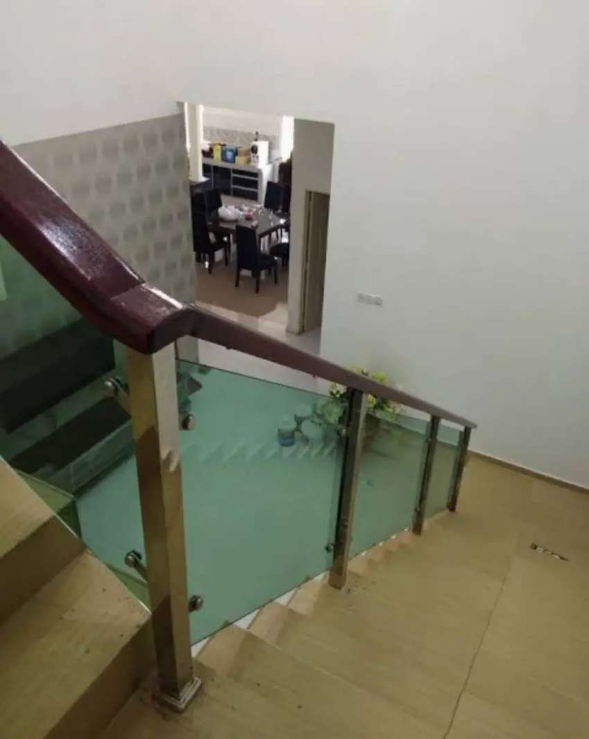 Kami bengkel las nerimah pembuatan reling tangga stanlis kaca $$1135
