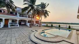 Waterfront row villa in a gated complex close by Panaji, Goa.