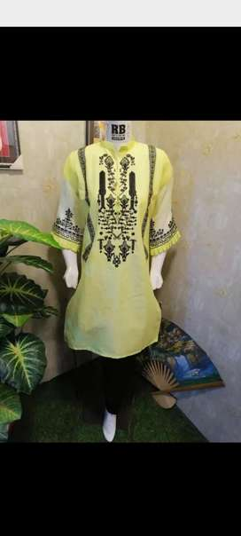 Important soft cotton Embroidered 2pc