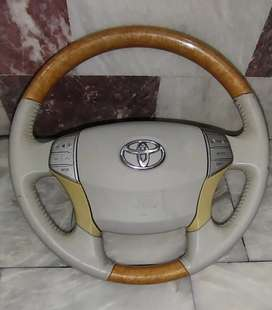 X corolla + prado work and All Toyota model multimedia wooden steering