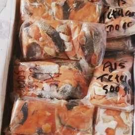 Tetelan salmon (tanpa duri) 500gr