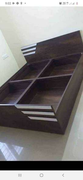 Designer bed with storage available with high quality wooden work