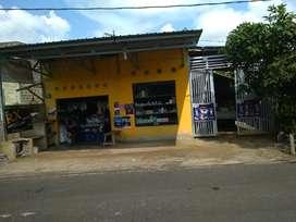 Jual rumah sekaligus ada toko nya