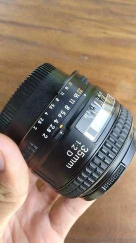 Lensa nikon 35mm afd f2.0