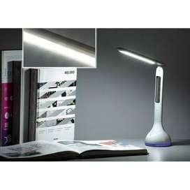 Lampu Meja Belajar Dengan Jam Temperatur - White