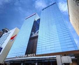 Sewa ruang kantor 365m2 di Plaza Bank Index, Jl. MH Thamrin