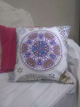 Printed covers with cushions
