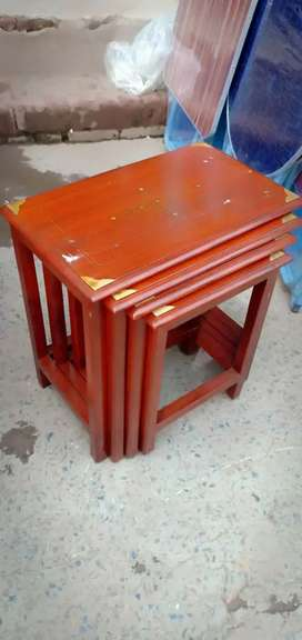 Side Table set 4 pice wood