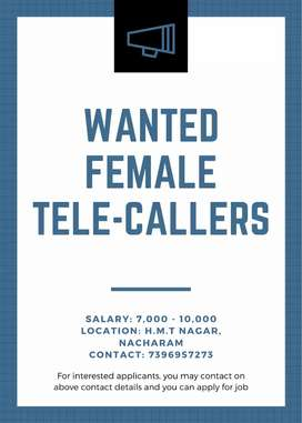 REQUIRED FEMALE TELE-CALLERS.