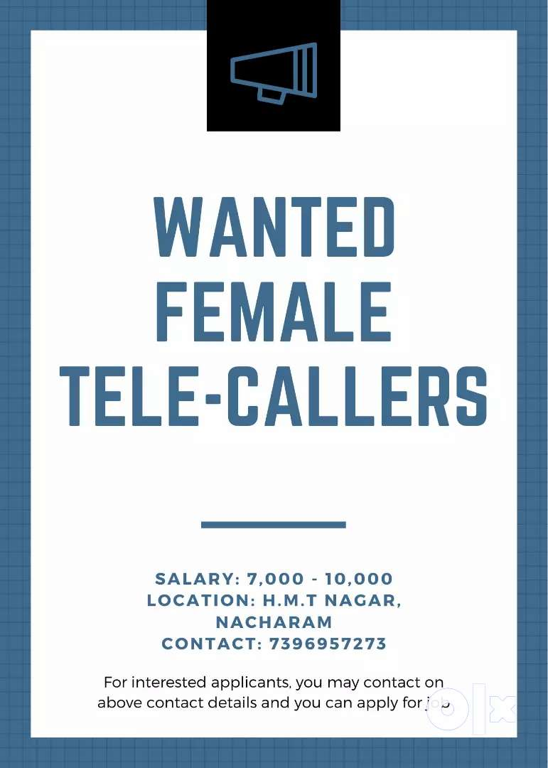REQUIRED FEMALE TELE-CALLERS. 0