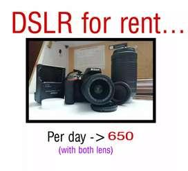 RENT FOR CAMERA D35000