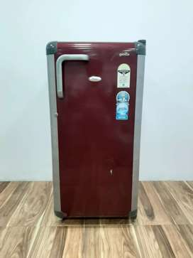 Silver and red whirlpool single door refrigerator free shipping