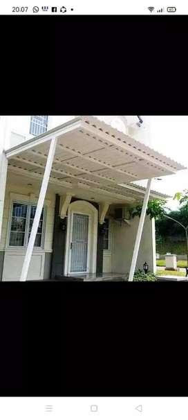 @41 canopy minimalis rangka tunggal atapnya alderon pvc bikin nyaman