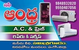 ANDHRA AC, Fridge , Washing machine sarvice