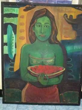 Lukisan tema wanita bw sesaji