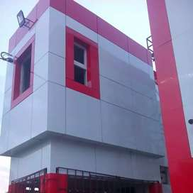 Aluminium cladding sheet wall