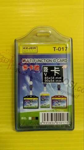 Casing karet 2 kartu / Tempat ID Card rubber 2 kartu