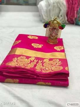 Cotton Silk Peacock Design Weaving Saree