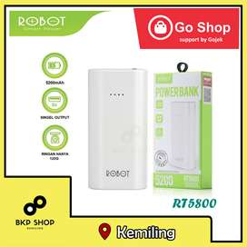 Powerbank robot 5200 mAh with LED light RT5800 murah dan ORIGINAL