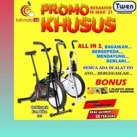 sepeda statis platinum bike twen K-29 alat fitnes II treadmill