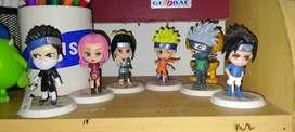 Action Figure Naruto | Sasuke | Sakura | Kakashi | Zabuza | Haku