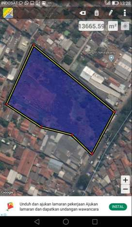 Tanah Strategis Pinggir Jalan Raya Kota Karawang Cocok Bangun Gudang