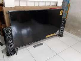 """FULL HD LED TV POLYTRON 50"""" Digital Speaker Tower Mulus Lengkap Garans"""