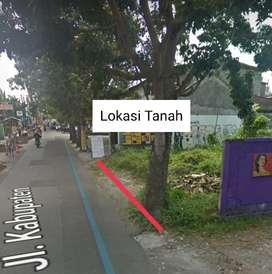 Disewakan tanah lokasi Jalan Kabupaten cocok kuliner, bengkel, toko