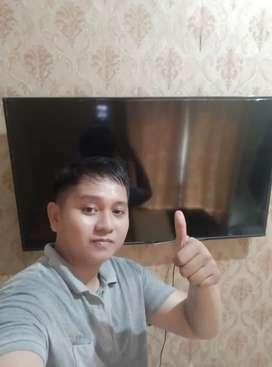 Breket bracket tv/pasang